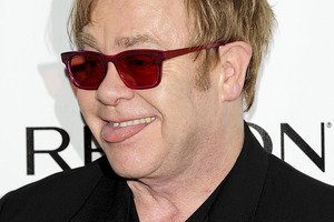 Elton John is recovering from a serious respiratory infection. Photo / AP