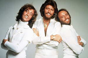Robin Gibb, left, with his brothers Barry and Maurice. Photo / Supplied