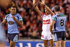 Michael Jennings of the Blues is sent to the sin-bin during game one of State of Origin. Photo / Getty Images