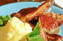 Homemade mint sauce goes perfectly with lamb chops. Photo / Jason Dorday