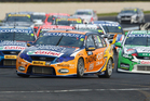 Will Davison leads the way during race 11 of the V8 Supercar Championship Series. Photo / Getty Images