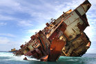 The Rena lies shipwrecked. Photo / Supplied
