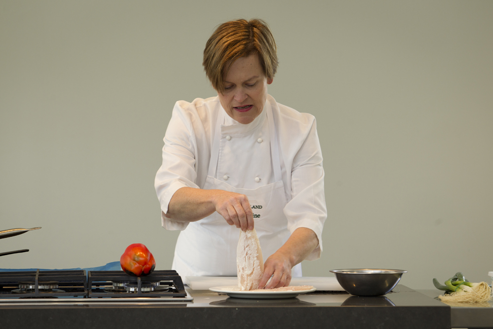 Sophie Bond get a cooking lesson with Celia Hay.