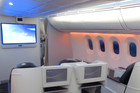 The business class seating onboard the new Boeing 787 Dreamliner. Photo / Grant Bradley