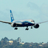 The Boeing 787 Dreamliner lands at Auckland International Airport.  Photo / Steven McNicholl