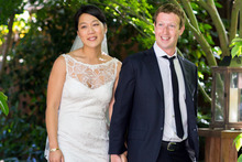 Priscilla Chan and Mark Zuckerberg. Photo / AP
