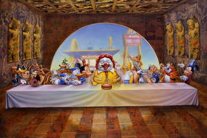 The Last Supper by American artist Ron English. Photo / Supplied