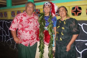 Moana Tapaleao, with her father Puniloa and mother Tauamafili, twice refused when her father asked her to take his enititlement. Photo / Supplied