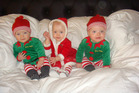 The Weekes triplets were among the 13 children who were tragically killed in a fire. Photo / Supplied