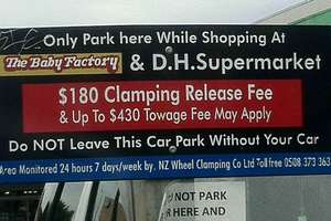 A sign spotted in West Auckland. Photo / Supplied