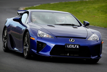 The Lexus LFA supercar was at Hampton Downs driven by Neal Bates. The car is worth nearly $1 million. Photo / Christine Cornege