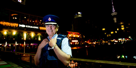 Police Commissioner Peter Marshall wanted to check out the Auckland bar scene, including Viaduct Harbour for himself. Photo / Dean Purcell