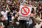 Spaniards protest against plans to cut public spending. Photo / AP.