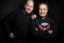 Neil Young with director Jonathan Demme. Photo / Supplied