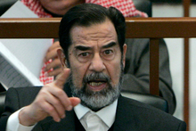 Saddam Hussein. Photo / AP