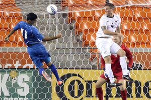 All White Ben Sigmund in action during last week's game against El Salvador. Photo / AP/Houston Chronicle, Nick de la Torre