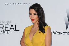 Kim Kardashian took to Twitter to say 'sorry' for her outburst. Photo / AP