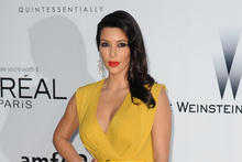 Kim Kardashian always has the right amount of cleavage. Photo / AP