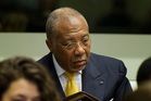 Former Liberian President Charles Taylor waits for the start of his sentencing judgement in the courtroom near The Hague, Netherlands. Photo / AP