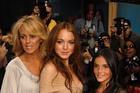 Dina Lohan, Lindsay Lohan and Ali Lohan.  Photo / Supplied