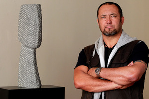 Sculptor Chris Bailey photographed at the FHE Gallery. Photo / NZ Herald