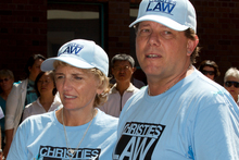 Christie Marceau's mother and father, Tracey and Brian. Photo / NZ Herald 