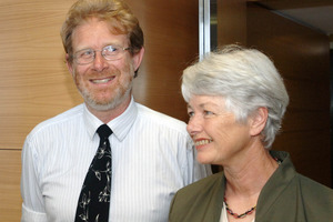 Green Party co-leaders Rod Donald and Jeanette Fitzsimons in 2005. Photo / File