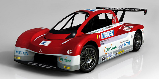 The i-MiEV Evolution racecar. Photo / Supplied