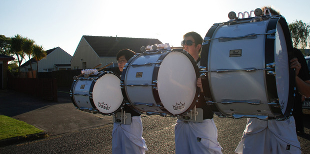 The Auckland Regional Drumline, home of NZ marching percussion, is currently recruiting. Photo / Supplied