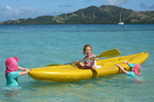 Sun, sand and crystal-clear water make for a great family holiday in Fiji. Photo / Libby Middlebrook