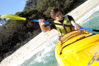 James Frankham kayaking in Tasmania. Photo / James Frankham