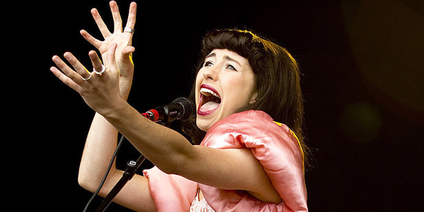 Kimbra says she's living a busy life but is trying to 'roll' with the demands of a touring lifestyle.  Photo / Dean Purcell