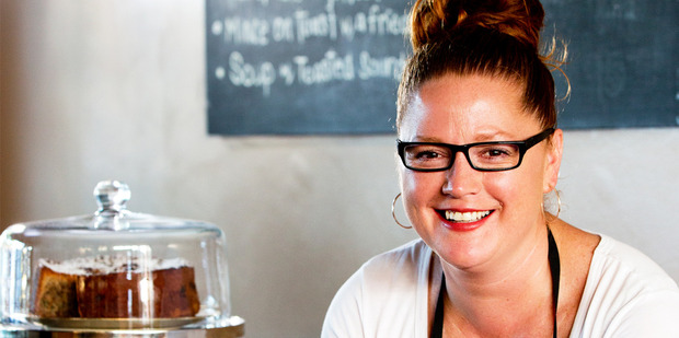 Chef Amanda Laird, seen here at her Mangere Bridge cafe, Ruby Red, is releasing her first cookbook this week. Photo / Babiche Martens