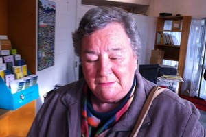 The picture tweeted by Trevor Mallard of the woman he says served him defamation papers. Photo / Trevor Mallard
