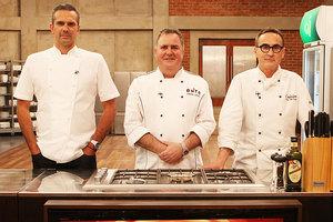 MasterChef judges Josh Emmett, Simon Gault and Ray McVinnie. Photo / Supplied