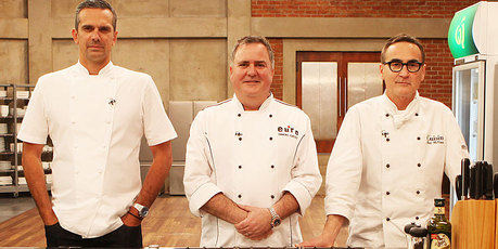 MasterChef judges Josh Emmett, Simon Gault and Ray McVinnie. Photo / Supplied