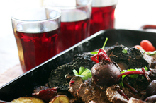 Pinot noir brings out the earthy richness of venison. Photo / Doug Sherring