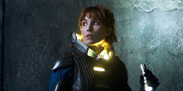 Noomi Rapace appears in a scene from Prometheus. Photo / Supplied