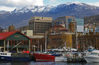 Hobart's waterfront, with Mt Wellington in the background. Photo / Tourism Tasmania