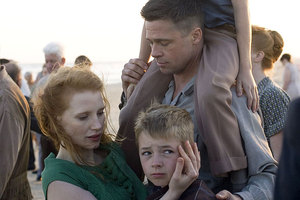 Brad Pitt in a scene from arthouse film Tree of Life. Photo / Supplied
