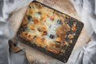 Supplied pic of Christchurch artist Henry Hargreaves deep-frying gadgets in the name of art.