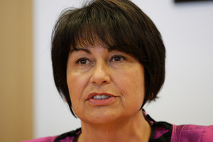 Education Minister Hekia Parata during her Beehive press conference today in Wellington.  Photo / Mark Mitchell