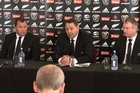 New All Blacks rugby coach Steve Hansen made his first major team announcement for the Steinlager Series against Ireland.