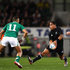 Aaron Smith of the All Blacks breaks through the tackle of Brian O'Driscoll of Ireland during the International Test Match between the New Zealand All Blacks and Ireland. Photo / Getty Images.