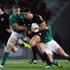 Daniel Carter of the All Blacks makes a break during the International Test Match between the New Zealand All Blacks and Ireland. Photo / Getty Images.