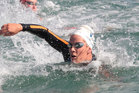 Cool water temperatures and strong tides are expected to favour Cara Baker (pictured) and the New Zealand swimmers in the final Olympic qualifier for the 10km open water swim. Photo / Greg Bowker.