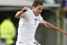 Chris Killen will start in a defensive midfield role for the All Whites today against New Caledonia. Photo / AP