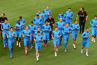 The Holland squad was racially abused during a training run at Stadion Miejski in Poland. Photo / AP.