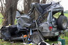 Four people were killed when a four wheel drive crashed in a paddock near Putorino, Hawkes Bay. Photo / SNPA, John Cowpland. Photo / Hawke's Bay Today