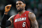 Miami Heat forward LeBron James gestures as he walks upcourt during the third quarter in Game 6 of the NBA basketball Eastern Conference finals. Photo / AP